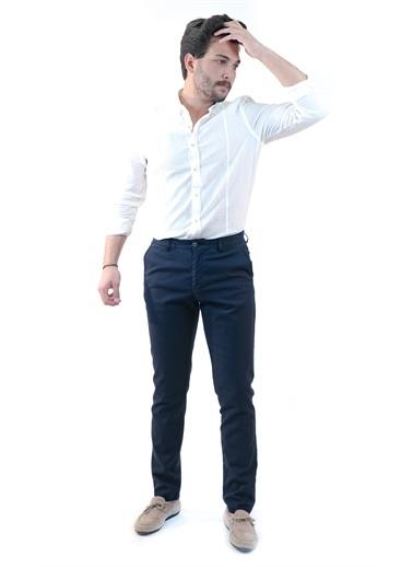 Boris Becker Yandan Cepli Erkek Slim Fit Pantolon Lacivert
